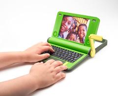 Foto del ordenador de OLPC