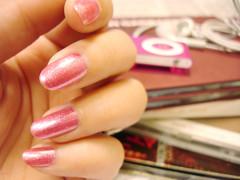 My pink nail color
