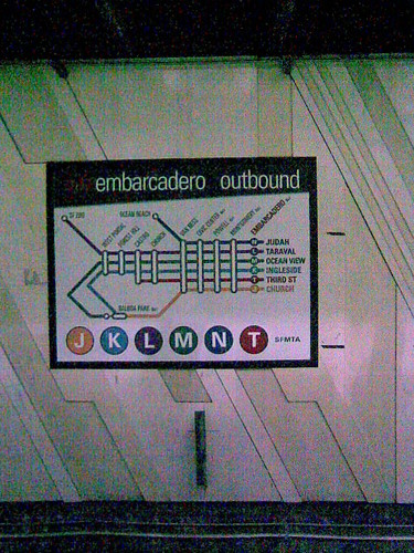 New Outbound Sign, Embarcadero Station