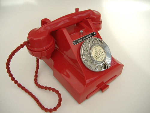 Rare red 312 Bakelite Telephone