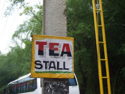 Tea Stall and Ladder