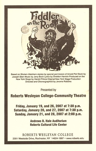 2007-01-27-Fiddler on the Roof Playbill