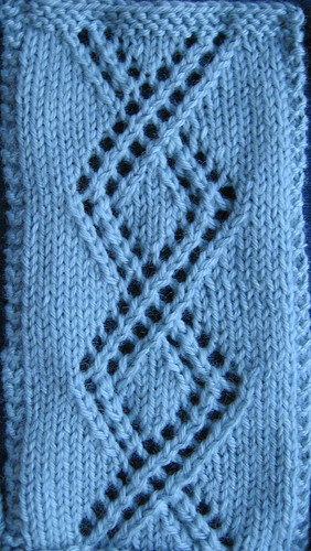 right cable-twist lace