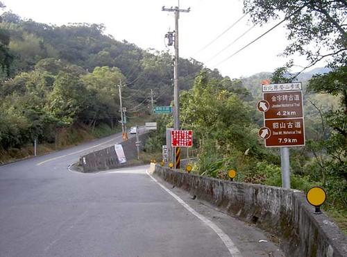 左邊為侯牡公路,我是走右邊的瑞雙公路