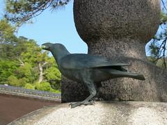 crow statue, Miyajima