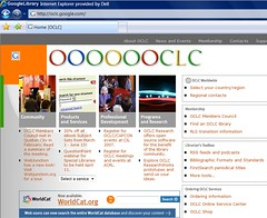 New OCLC home page