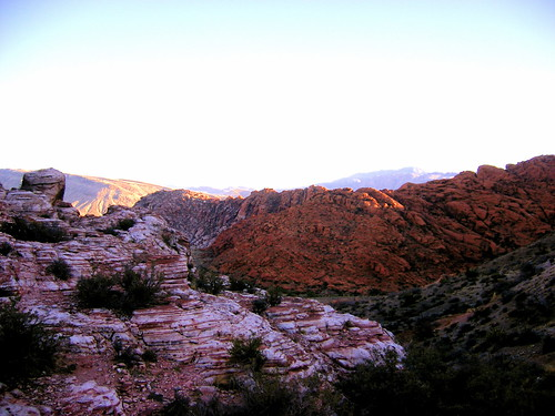 View of Red Rock, from a Calico Basin peak