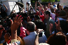 Members of Congress raise their hands