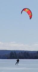 Kite Surfing on Lake Leelanau