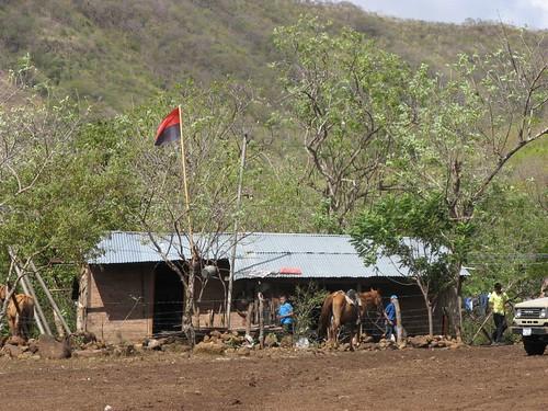 Balbino's farm, flag and store