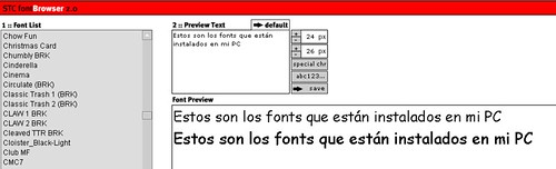 FontBrowser