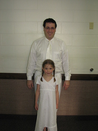 Elizabeth and Dad - Baptism
