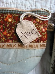 teacup pouch tag from Patchwork Pottery