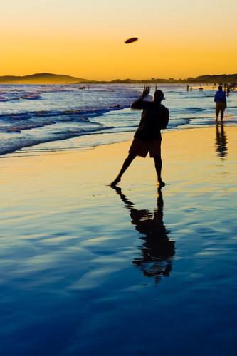 Frisbee Sunset