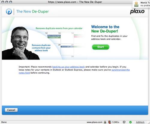 Plaxo's New Deduper