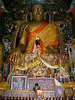 Large Buddha statue in the Tibetan temple in Sarnath