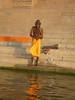 Sadhu doing morning Puja, Varanasi