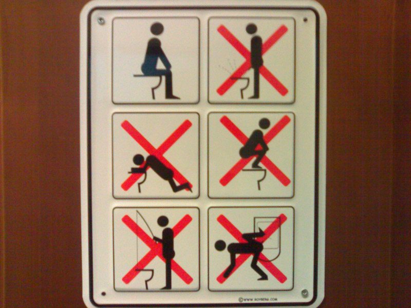Do Not Toilet Sign