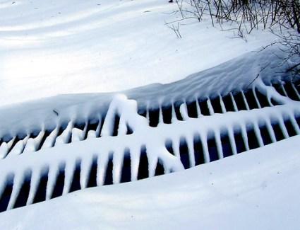 big grate in snow