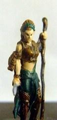 female warrior miniature macro (lightbox test)