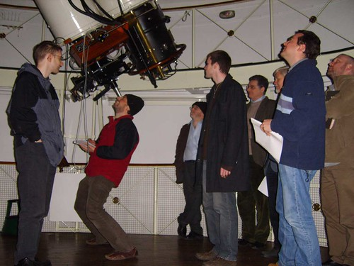 I watch as diploma students learn to record at the eyepiece