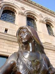 Art Sculpture at Boston Public Library