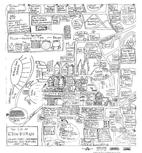 Spencer Finch - Edinburgh Map