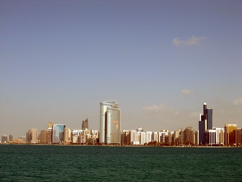 Abu Dhabi skyline in 2008