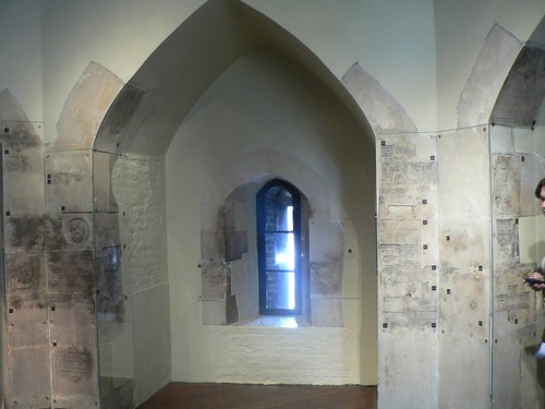 carvings inside the prisoners tower