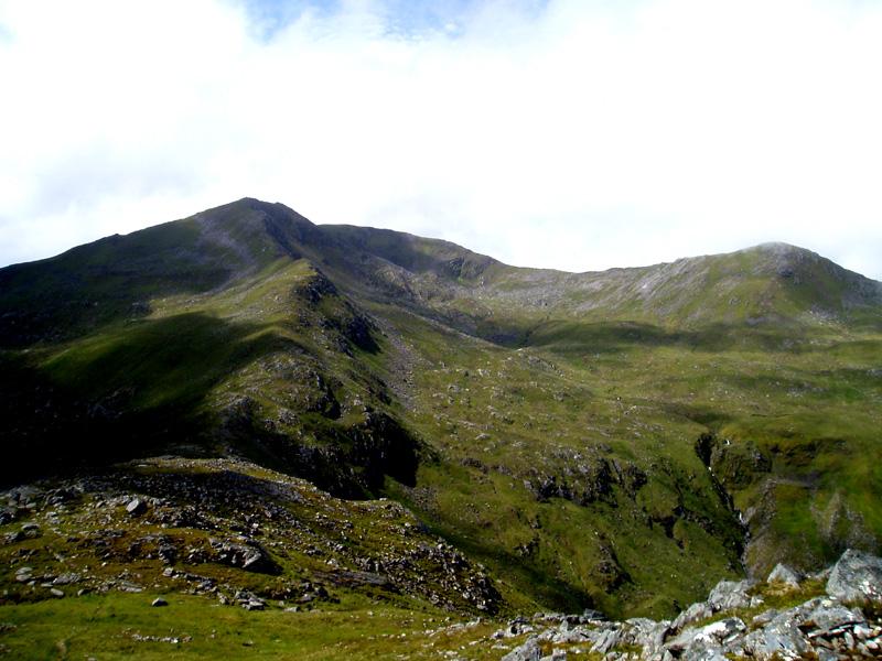 Sgurr nan Ceathreamhnan from Mullach nan Dheiragain