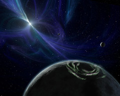 Artist View of Pulsar Planet System by NASA/JPL