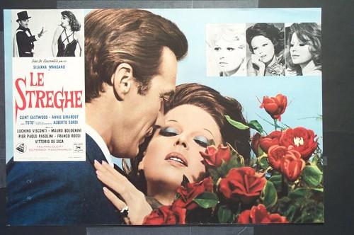Silvana Mangano y Clint Eastwood en Le Streghe