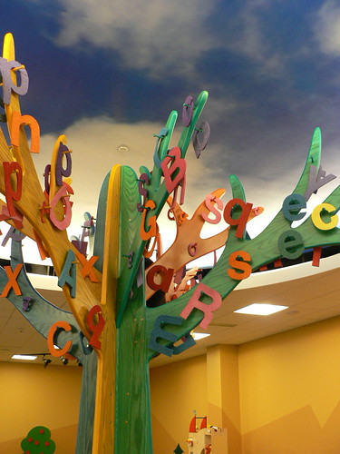 alphabet tree in the Children's Services Early Learning Center