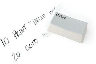 Borrador tecla delete