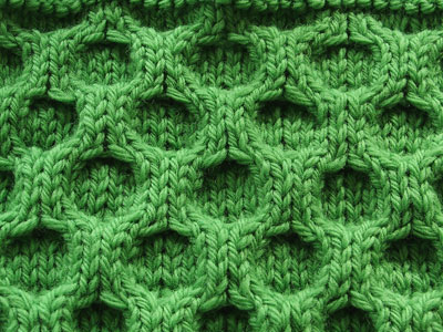 Elongated Aran Honeycomb Swatch