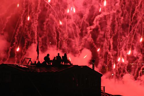 Fire in the sky, Seattle