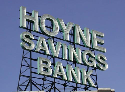 Hoyne Savings Bank Sign by pixeljones