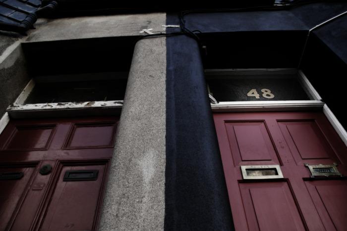 The red door at No. 48