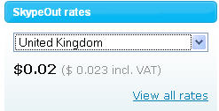 skype out rate