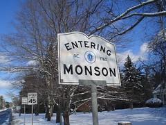 Entering Monson
