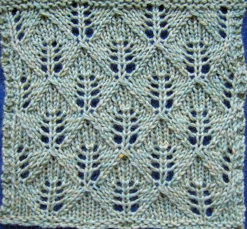 Fern or Leaf-Patterned Lace