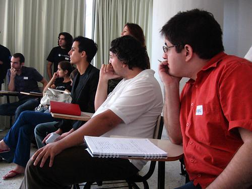 Os três Andrés, da direita para esquerda, Andre de Abreu, André (Marmota) Oliveira e André Avório