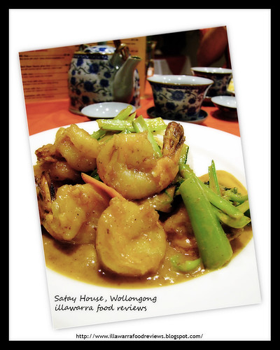 Satay King Prawns at Satay House, Wollongong Mall