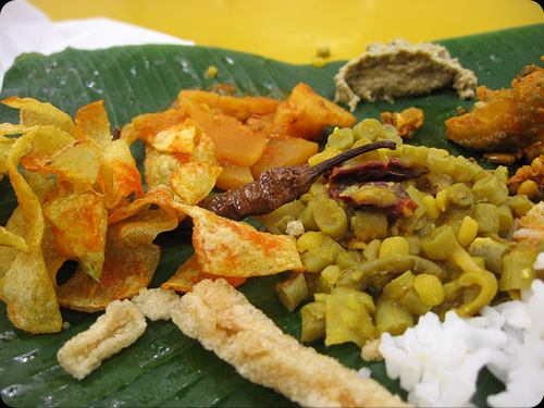 Banana leaf rice #2
