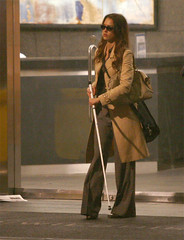 Jessica Alba Caught In A Man Made Rain Storm