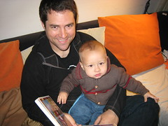 Reading one of Kristin's books to Jackson