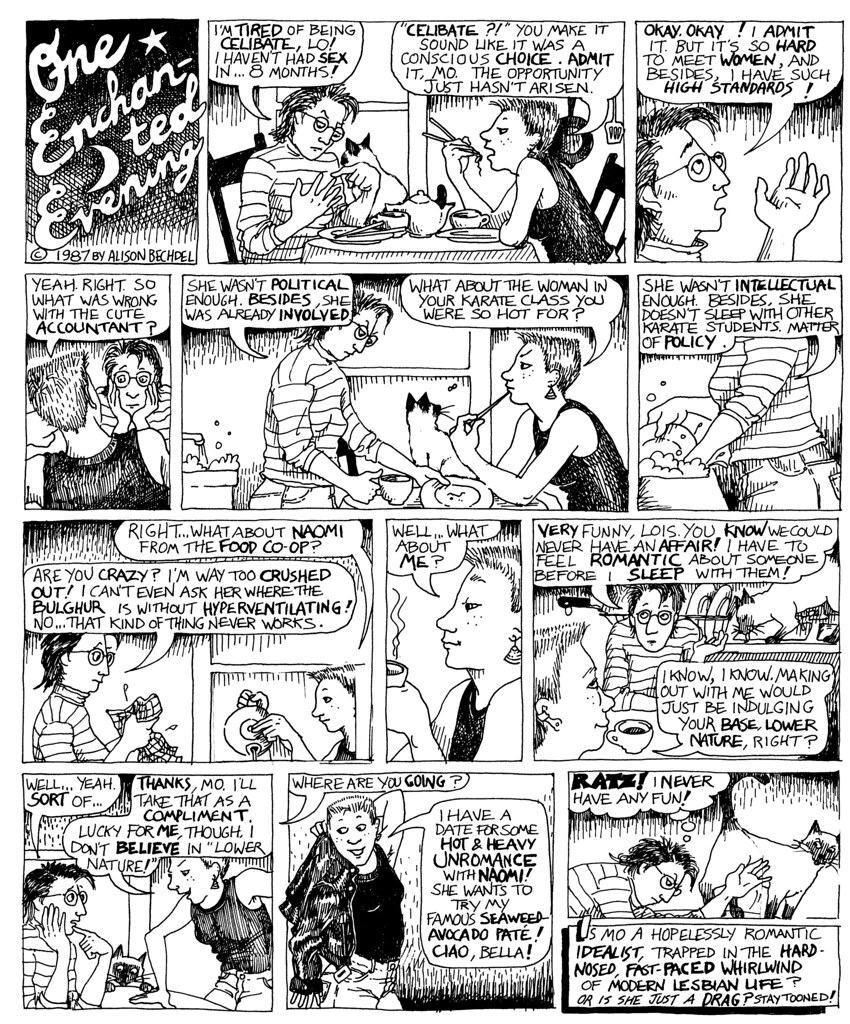 Dykes to Watch Out For, 1987, copyright Alison Bechdel