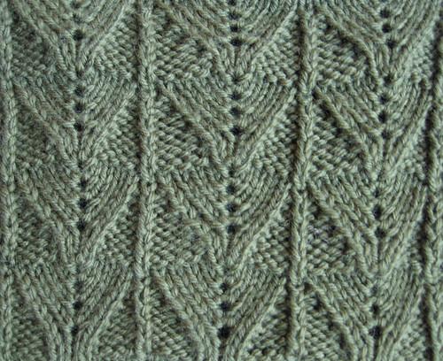 Reverse Fern Stitch, panel version