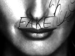 Fake lips.
