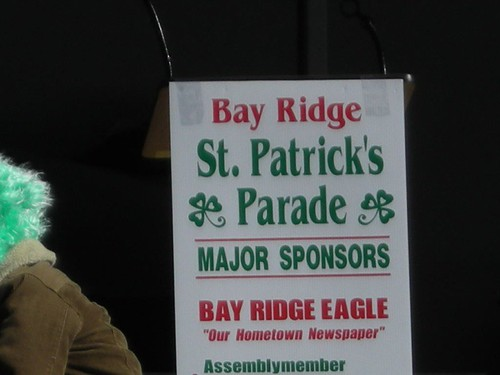 St. Patrick's Parade Sign